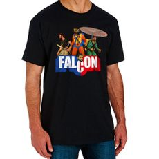 Camiseta Falcon Aventuras Preta Produto Estrela