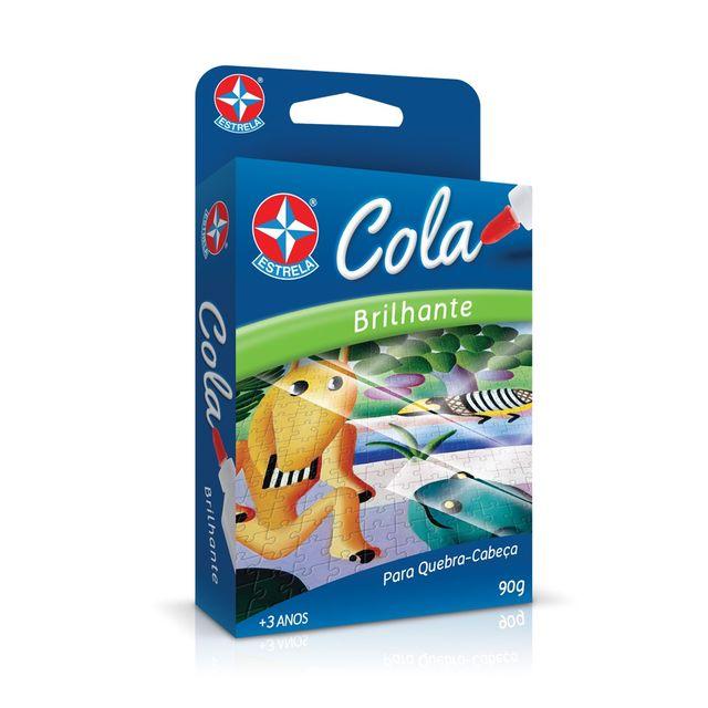 Jogos Cola Brilhante para Quebra-Cabeça Embalagem Estrela