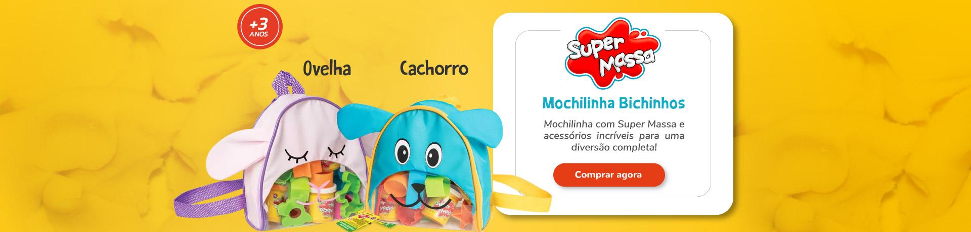 Super Massa Mochilinha Bichinhos