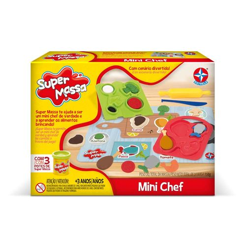 Massinha Super Massa Mini Chef Embalagem Estrela