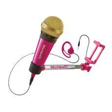 Microfone para karaokê Selfie Mic Rosa Produto Estrela
