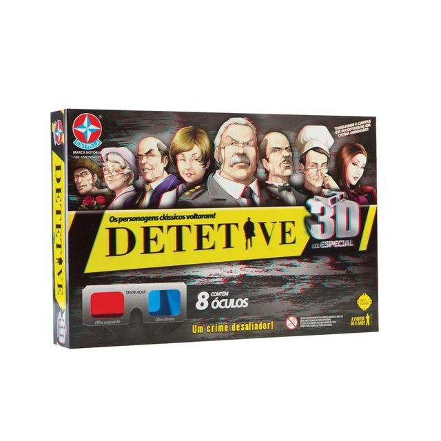 Jogo Detetive 3D Embalagem Estrela