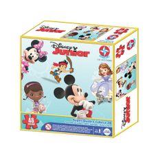 Super Quebra-Cabeça 3D Disney Junior 48 peças Embalagem Estrela
