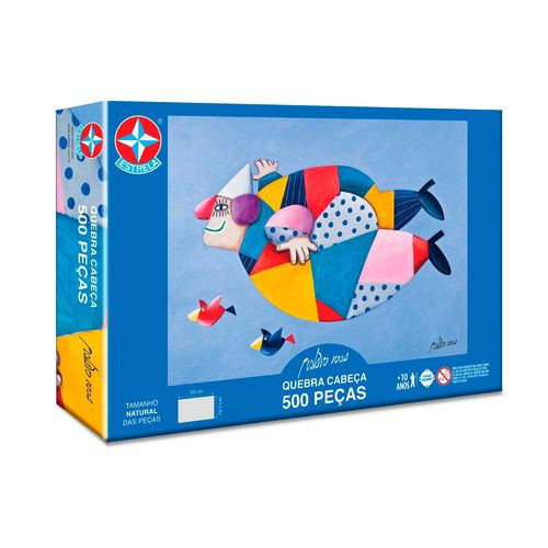 Quebra-Cabeça Gustavo Rosa 500 peças Embalagem Estrela