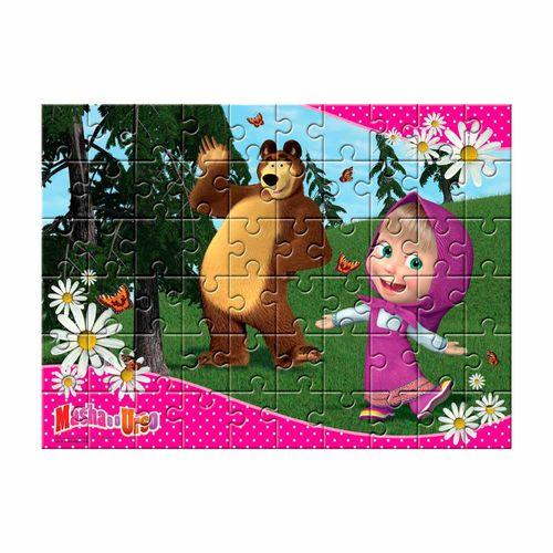 Quebra-Cabeça Masha e o Urso 60 peças Produto Estrela