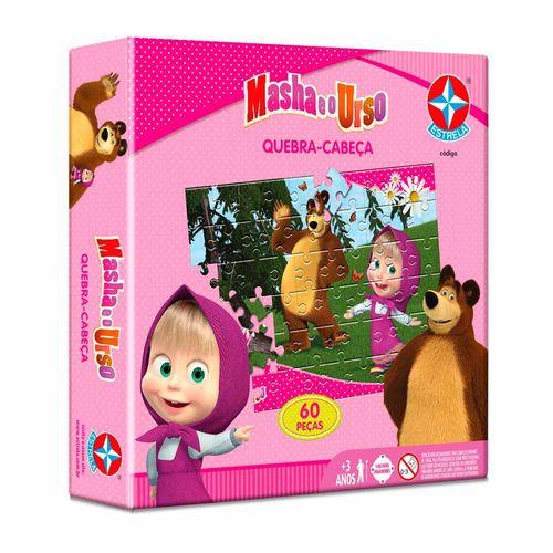 Quebra-Cabeça Masha e o Urso 60 peças Embalagem Estrela