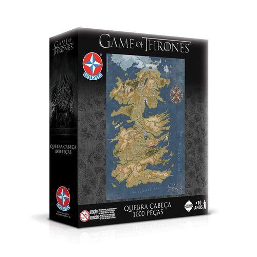 Quebra-Cabeça Game of Thrones 1000 peças Embalagem Estrela