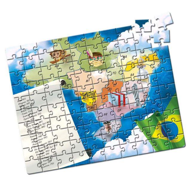 Quebra-Cabeça Estados Brasileiros 100 peças Produto Estrela