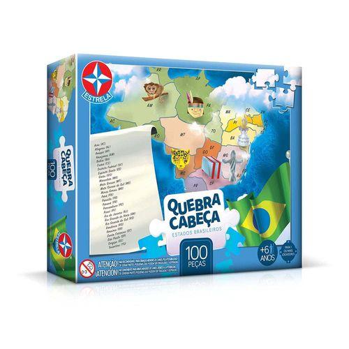 Quebra-Cabeça Estados Brasileiros 100 peças Embalagem Estrela