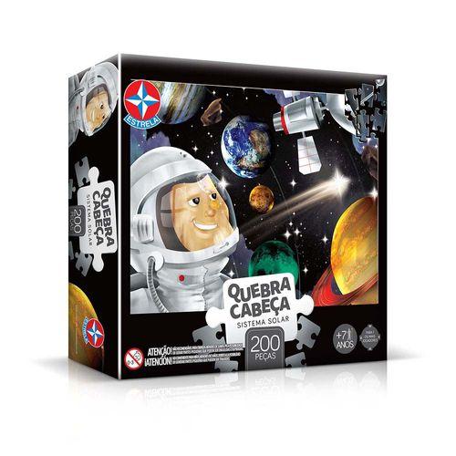 Quebra-Cabeça Sistema Solar 200 peças Embalagem Estrela