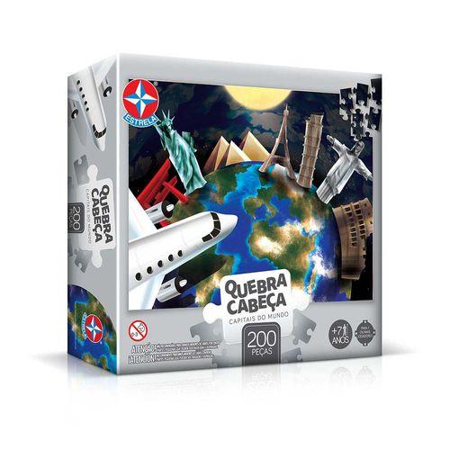 Quebra-Cabeça Capitais do Mundo 200 peças Embalagem Estrela