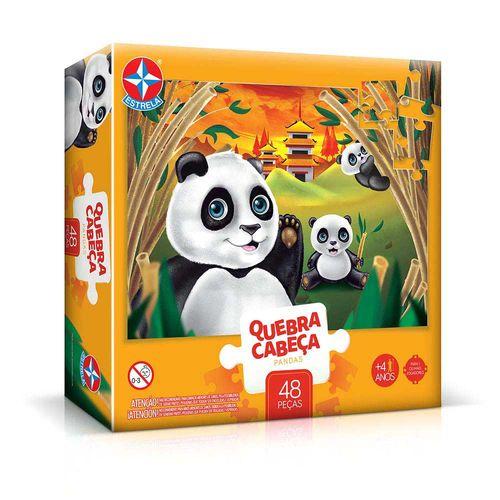Quebra-Cabeça Pandas 48 peças Embalagem Estrela