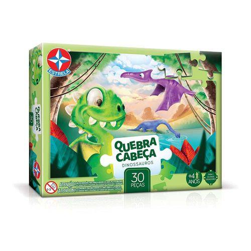 Quebra-Cabeça Dinossauros 30 peças Embalagem Estrela