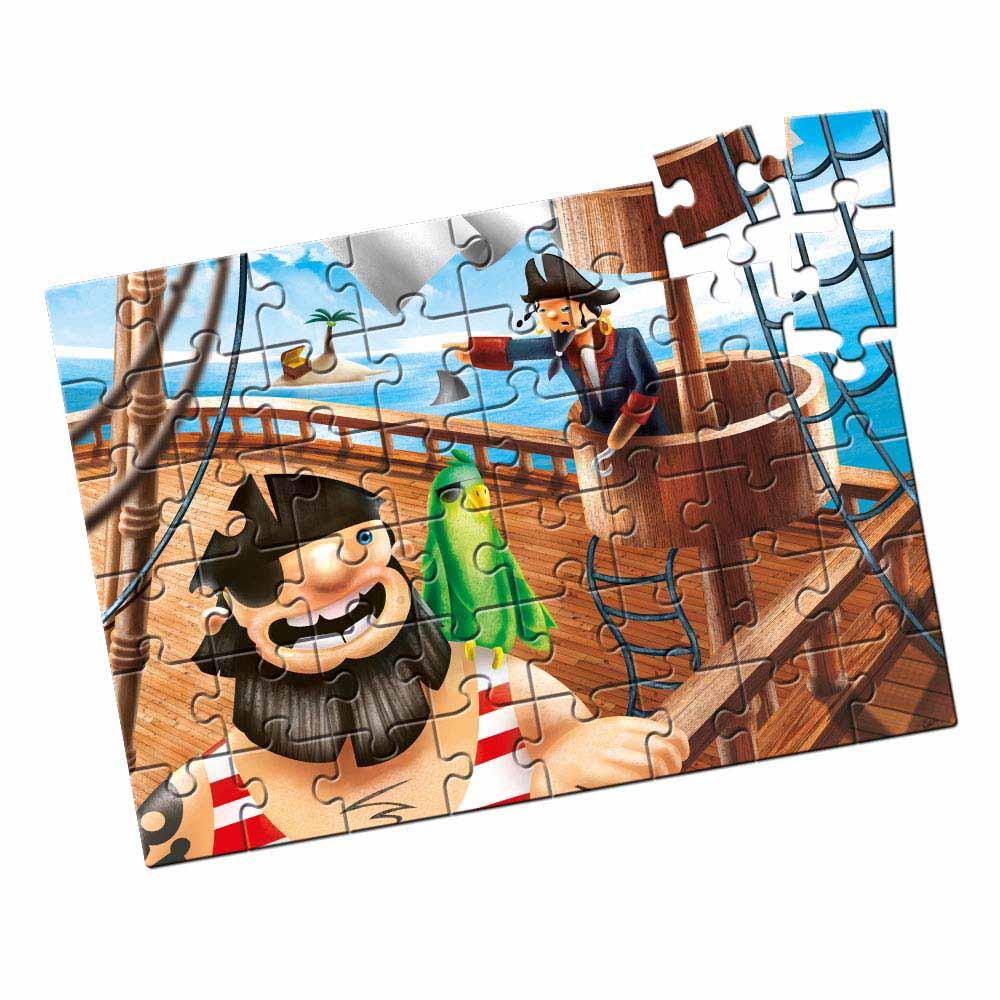 Quebra-Cabeça Grandão Piratas 48 peças - estrela b4543dfe42e59
