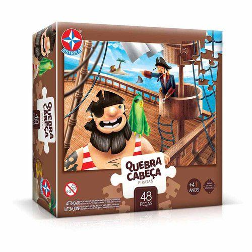 Quebra-Cabeça Piratas 48 peças Embalagem Estrela