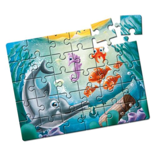 Quebra-Cabeça Animais no Fundo do Mar 30 peças Produto Estrela