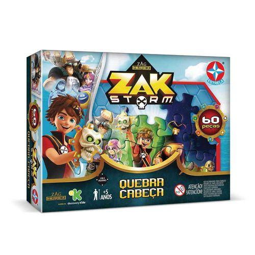 Quebra-Cabeça Zak Storm 60 peças peças Embalagem Estrela