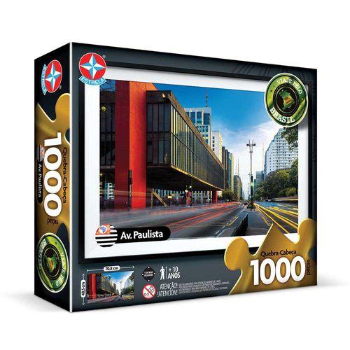 Quebra-Cabeça Avenida Paulista 1000 peças Embalagem Estrela