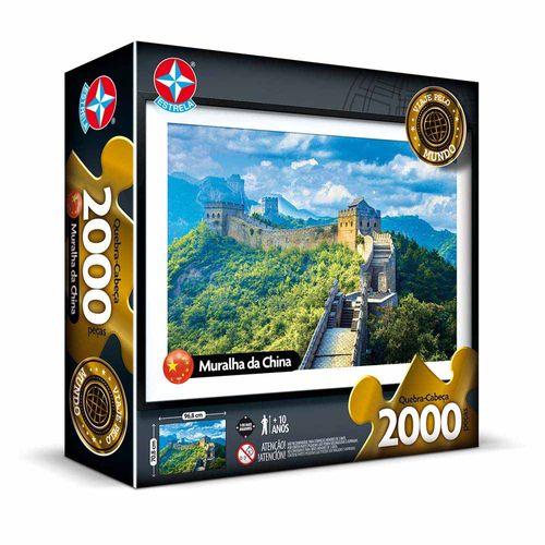 Quebra-Cabeça Muralha da China 2000 peças Embalagem Estrela