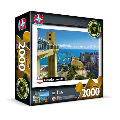Quebra-Cabeça Elevador Lacerda 2000 peças Embalagem Estrela