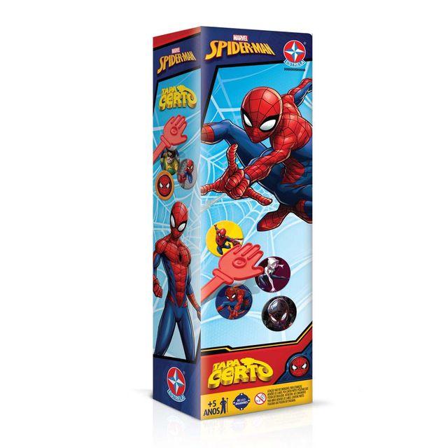 Jogo Tapa Certo Spiderman Embalagem Estrela