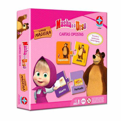 Jogo Cartas Opostas Masha e o Urso Embalagem Estrela