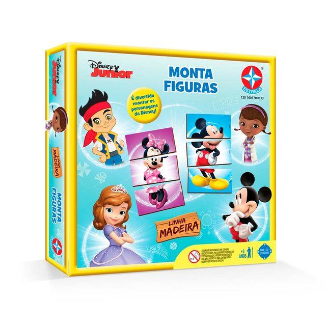 Jogo Monta Figuras Disney Junior Embalagem Estrela