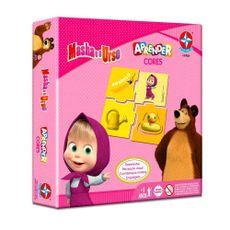 Jogo Aprender Cores Masha e o Urso Embalagem Estrela