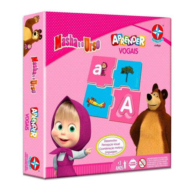 Jogo Aprender Vogais Masha e o Urso Embalagem Estrela
