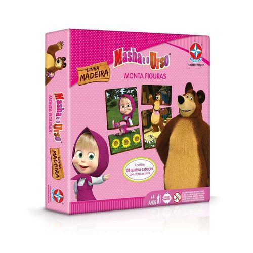 Jogo Monta Figuras Masha e o Urso Embalagem Estrela