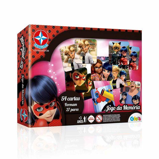 Jogo da Memória Ladybug Miraculous Embalagem Estrela
