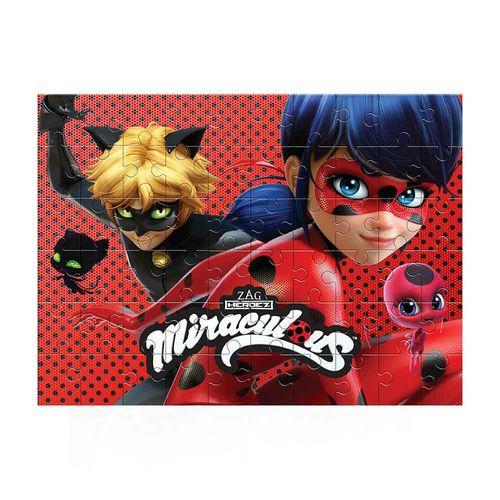 Quebra-Cabeça Ladybug Miraculous 60 peças Produto Estrela