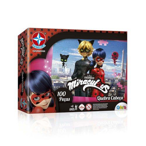 Quebra-Cabeça Ladybug Miraculous 100 peças Embalagem Estrela