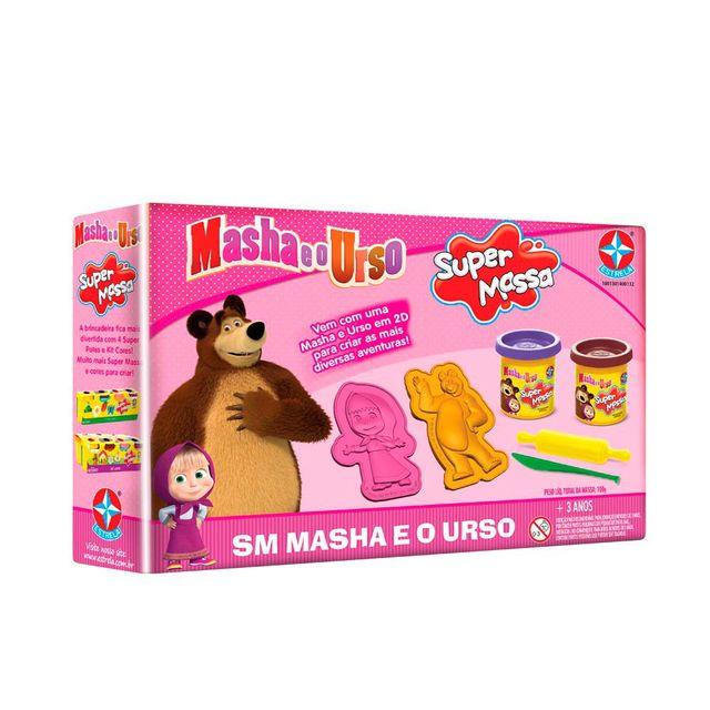 Massinha Super Massa Masha e o Urso Embalagem Estrela