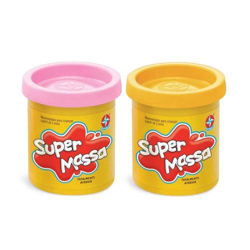 Massinha Super Massa 2 Potes Rosa e Amarelo Produto Estrela