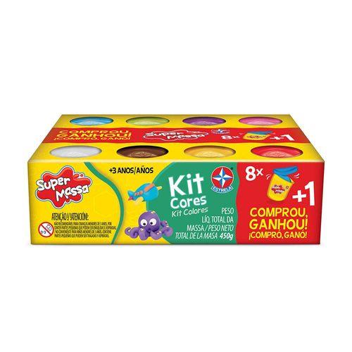 Massinha Super Massa Kit Cores com brinde Embalagem Estrela