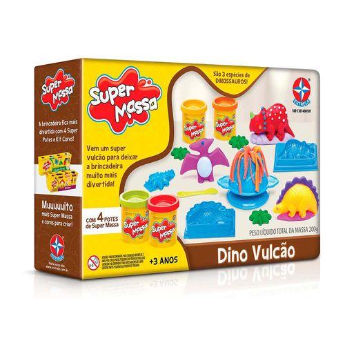 Massinha Super Massa Dino Vulcão Embalagem Estrela