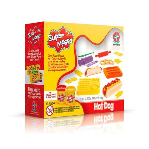 Massinha Super Massa Hot Dog Embalagem Estrela