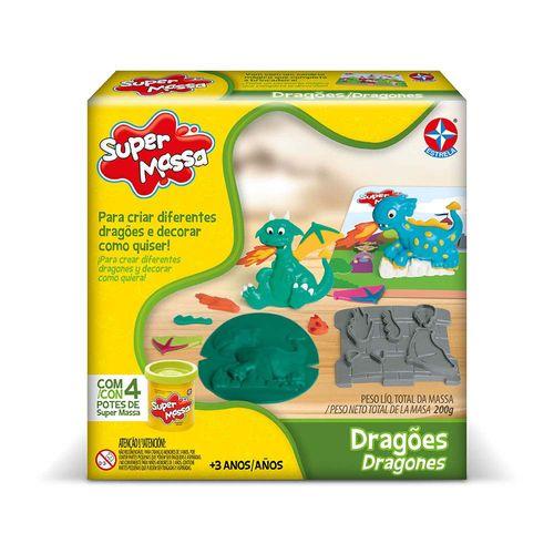 Massinha Super Massa Dragões Embalagem Estrela