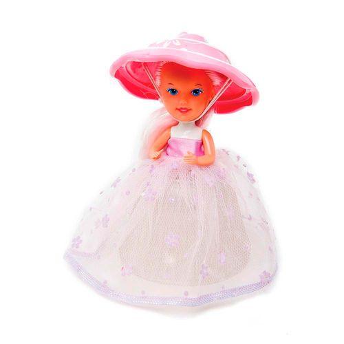 Bonca Cupcake Surpresa Luz Brigadeiro de Morango 14 cm boneca Produto Estrela