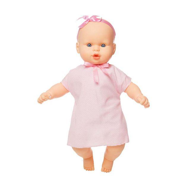 Boneca Colinho da Mamãe vestido rosa que canta 43 cm Produto Estrela