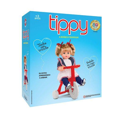 Boneca Tippy com triciclo 48 cm Embalagem Estrela