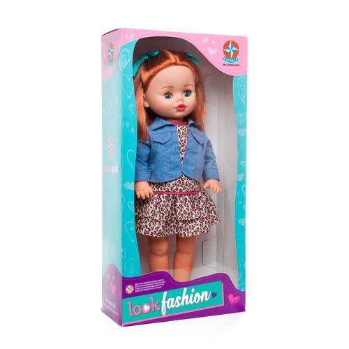 Boneca Look Fashion Mallu 48 cm Embalagem Estrela