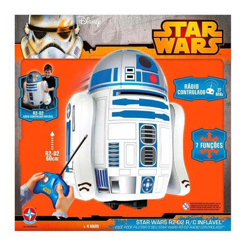 Boneco Inflável rádio controlado Star Wars R2D2 Embalagem Estrela