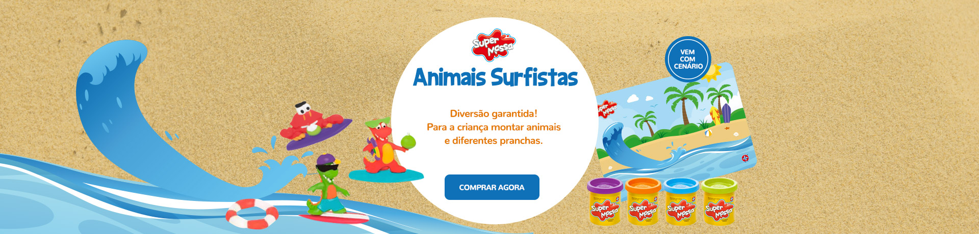 Super Massa Animais Surfistas