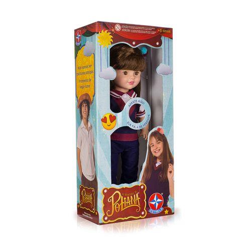 Boneca Poliana que fala 52 cm lateral direita Embalagem Estrela