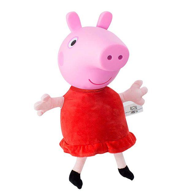 Pelúcia Peppa Pig cabeça de vinil 34 cm lateral direita Produto Estrela