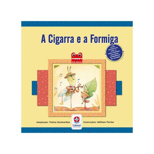 Coleção Papa-Páginas A Cigarra e a Formiga Capa Estrela-Cultural