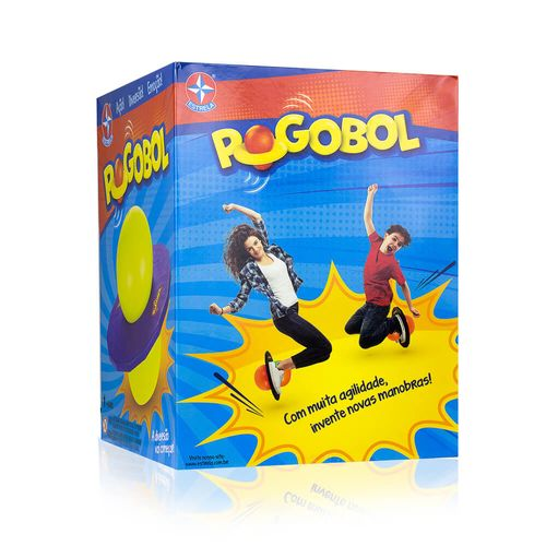 Brinquedo Clássico Pogobol lateral Embalagem Estrela