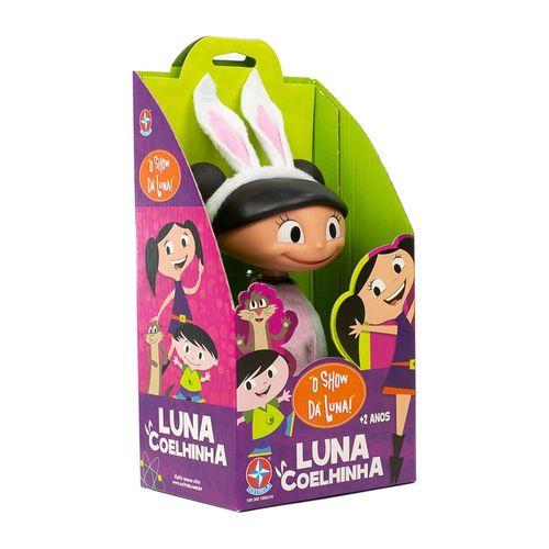 Boneca Luna Coelhinha 20 cm lateral Embalagem Estrela